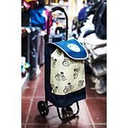 Универсальная сумка-тележка на двух колесах 26х31х88см синяя фото