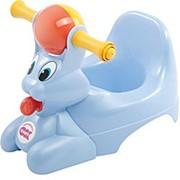 Дитячий горщик з музичною скринькою Spidy, колір блакитний, артикул 37825535 фото