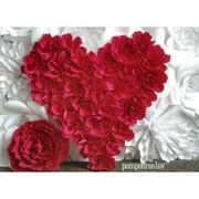 Сердце из цветов фото
