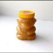 Белый мед ПЭТ - банка Мишка очень маленький 0,3л фото