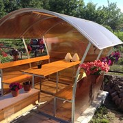 Беседка садовая для дачи Астра, Пион, Импласт. Код товара: 14421 фото
