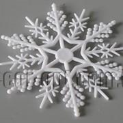Снежинка пластиковая 10,5 см 570832 фото