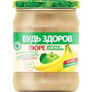 """Пюре фруктовое яблочно-банановое """"Будь здоров"""", 450г фото"""
