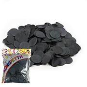 Конфетти бумажное Круги черные 3см 100гр фото