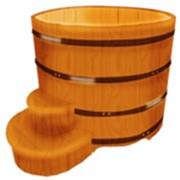 Кедровые купели круглые (диаметр 200 см) фото