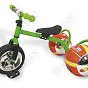 Велосипед с колесами в виде мячей БАСКЕТБАЙК зелёный Walking bike on ball, two фото