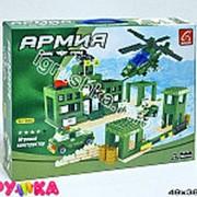 Конструктор пластиковый армия военная база джипы и вертолет 21-3286 фото