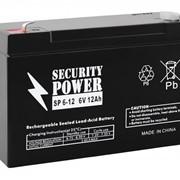 Аккумуляторная батарея Security Power 6V/12Ah фото