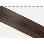 Молния рулонная обувная №7 в ассортименте, коричневая фото