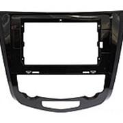 Рамка переходная в Nissan Qashqai, X-Trail 2014+ (в комплектации с климат контролем) для дисплея 10 дюймов фото