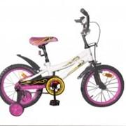 Велосипед двухколёсный 16K147 - White with Pink фото