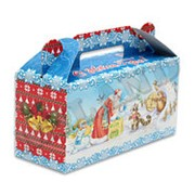 Коробка для конфет новогодняя Miland 500 гр., ПП-9088 фото