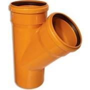 Канализационный тройник ПП Ø110/110 оранжевый угол 45 фото
