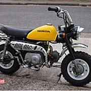 Мопед мокик Honda Monkey рама Z50J гв 1978 Minibike задний багажник пробег 1 т.км желтый черный фото