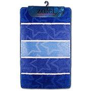 """Коврик для ванной """"Zalel Silver"""" 60х100см (ворс 1,5см) голубой фото"""
