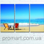 Модульна картина на полотні Морський пляж код КМ6090-001 фото