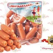 Сосиски фирменные Мортаделлки мясные высшего сорта фото