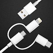 Xiaomi Оригинальный кабель Xiaomi XM3001 3 в 1 (Lightning, Micro USB, Type-C) фото