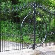Ворота из металла фото