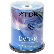 DVD-R диск TDK 4,7Gb 16x 100шт CakeBox