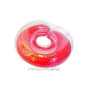 Круг на шею Baby Swimmer для купания детей от 0 до 36 месяцев красный полуцветный ; BS12R фото