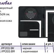 Папка на кнопке, с поворотным калькулятором и блокнотом, А4, кожзам, 203/ВК фото