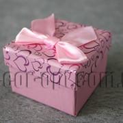 Коробка для ювелирных изделий бледно-розовая 5х5 см 5049 фото