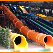 Водные аттракционы - Скоростная горка «Твистер» в аквапарке Джунгли фото