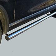 Пороги VW Touareg 2010-2018 (труба 76 мм) фото