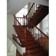 Лестницы из натурального дерева фото