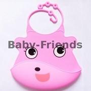 Слюнявчик пластиковый Милашка (розовый) фото