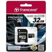 Карта памяти Transcend Micro SDHC Card 32Gb Class 10 w/adapter (TS32GUSDHC10) фото