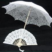 Свадебные зонтики и веера фото