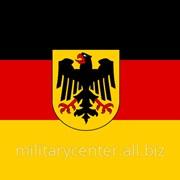Флаг ФРГ с гербом 16726000 фото