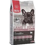 Blitz 15кг Puppy Sensitive Lamb&Rice Сухой корм для щенков Ягненок и рис фото