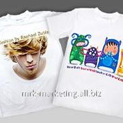 Печать на футболках фотографий фото