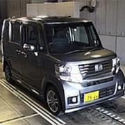 Микровэн турбо HONDA N BOX PLUS кузов JF1 класса минивэн модификация Custom G Turbo 2014 пробег 129 т.км серый фото