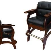 Кресло бильярдное (вишня, махагон, каштан, темный янтарь) фото