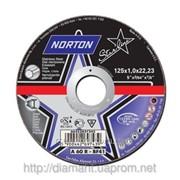 Круг отрезной по металлу NORTON STARLINE отрезка 125x1,6x22,23 фото