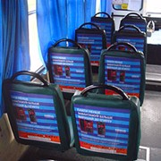 Размещение рекламы в салонах маршрутных такси фото