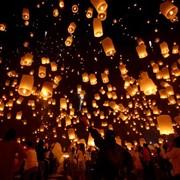 Летающие небесные фонарики купить в Киеве, заказать, доставка шариков в Киеве фото