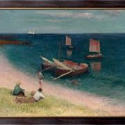 Картина Ля Кот д`Армор, пляж, 1893, Море, Генри фото