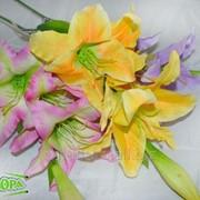 Цветок искус. Лилия ветка х3 65см KDG1206 фото