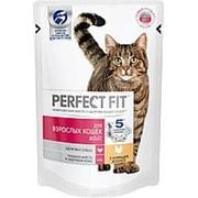 Perfect Fit 85г пауч Adult Влажный корм для взрослых кошек Курица (соус) фото