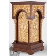 Стол литийный деревянный №2 с позолоченными элементами фото