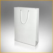 Пакет белый бумажный фото