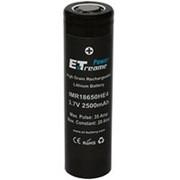 Аккумулятор ExT IMR18650 HE4 2500 mAh 35A высокотоковый фото