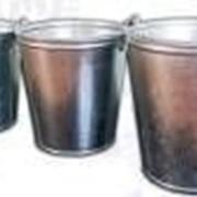 Ведро 12л оцинкованное (Омутнинск) клепанное ушко фото