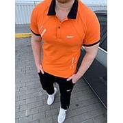 Летний мужской спортивный костюм Nike (2 цвета) НН/-933 - Оранжевый фото