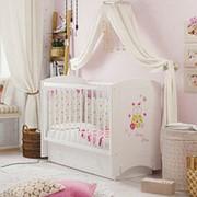 Детская кроватка «Ameli» (Амели) Маятник+Ящик фото
